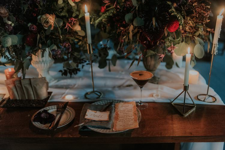 Tablescape Table Decor Decoration Candles Flowers Red Greenery Autumn Hygge Wedding Ideas http://meganelle.co.uk/