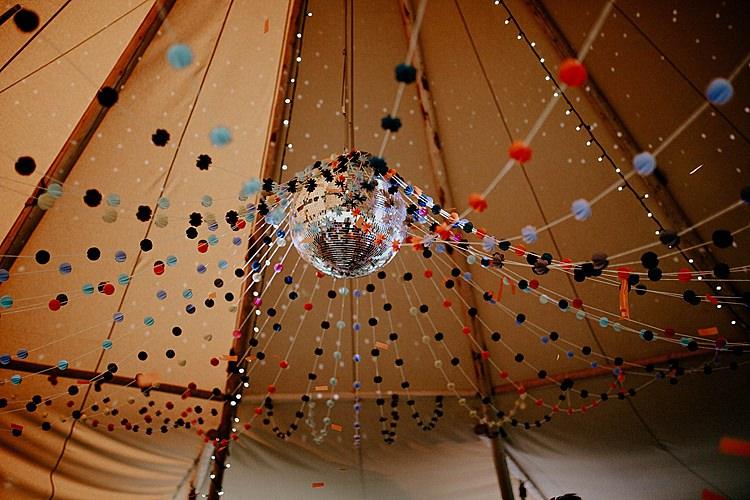 Pom Pom Canopy Tipi Disco Ball Mega Laid Back Festival Party Wedding http://www.jessicawilliams.photography/