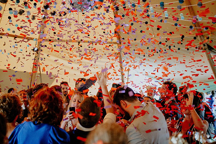 Confetti Bomb Dancefloor Mega Laid Back Festival Party Wedding http://www.jessicawilliams.photography/