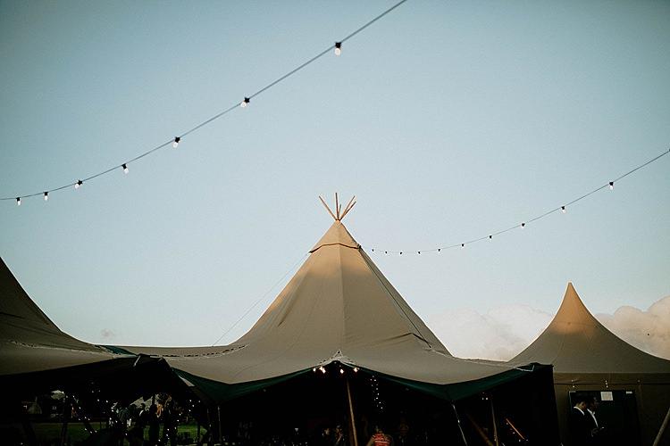 Tipis Festoon Lights Mega Laid Back Festival Party Wedding http://www.jessicawilliams.photography/