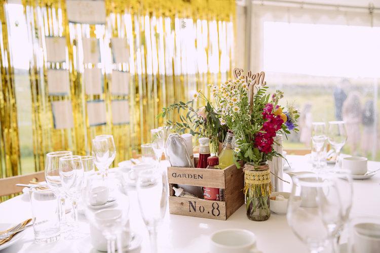 Jar Flowers Centrepiece Gorgeous Gold Navy Wow Factor Wedding http://hayleybaxterphotography.com/