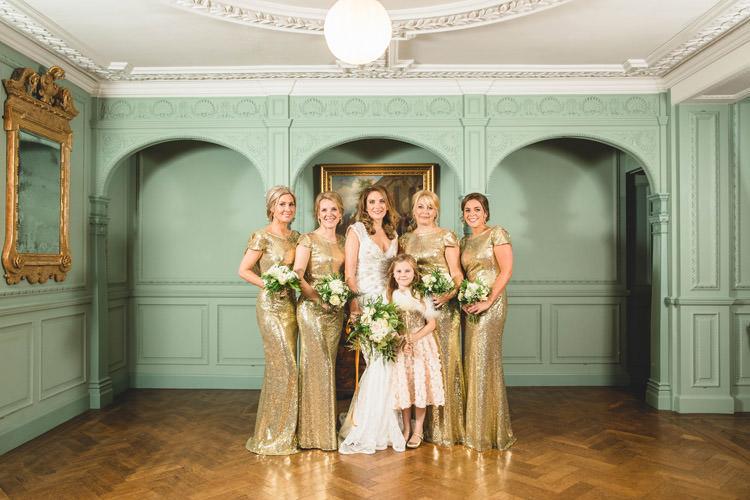 Bride Bridal Bridesmaids Gold Sequins Marble Greenery Vintage Glamour Wedding https://www.tobiahtayo.com/