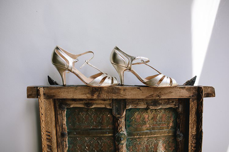 Gold Rachel Simpson Shoes Tropical Countryside Tipi Wedding https://parkershots.com/