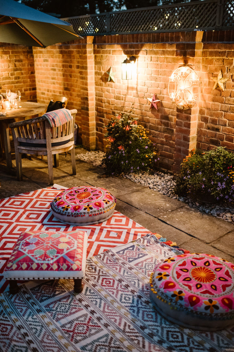 Seating Area Vegan Handfasting Summer Garden Party Wedding https://www.elliegillard.co.uk/