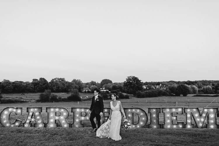 Light Up Letters Festival Bohemian Glamping Wedding https://theshannons.photography/