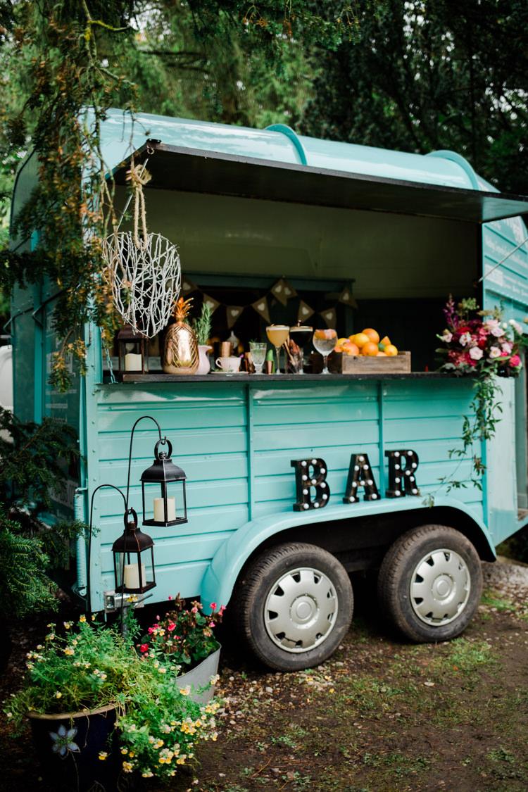 Bar Van Food Truck Outdoorsy Late Summer Marquee Wedding Ideas http://www.esmefletcher.com/