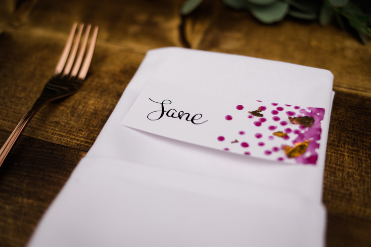 Glitter Gold Dots Table Name Stationery Outdoorsy Late Summer Marquee Wedding Ideas http://www.esmefletcher.com/