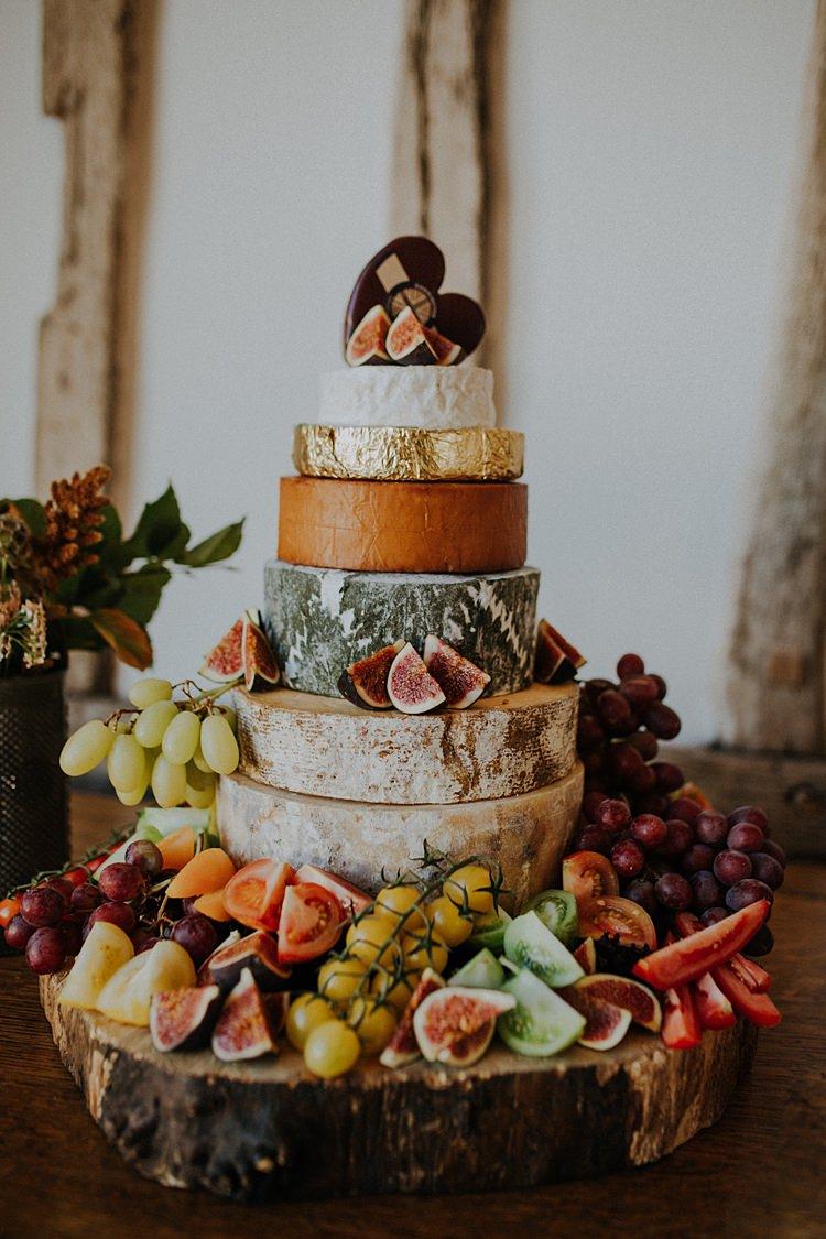 Cheese Tower Stack Cake Fruit Banquets Bonfires Autumn Wedding Ideas https://lolarosephotography.com/