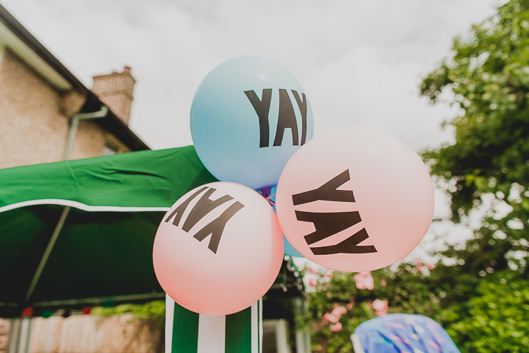 YAY Balloons Bright Colourful DIY Back Garden Wedding http://jonnymp.com/