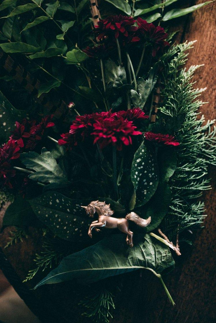 Foliage Unicorn Runner Opulent Eccentric Berry Gold Wedding https://mattaustinimages.co.uk/