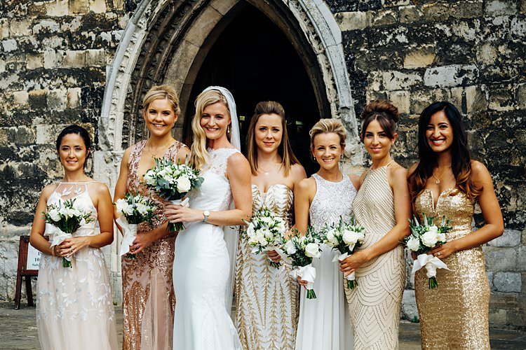Gold Sequin Bridesmaid Dresses Stylish Country House Rave Wedding http://www.mariannechua.com/