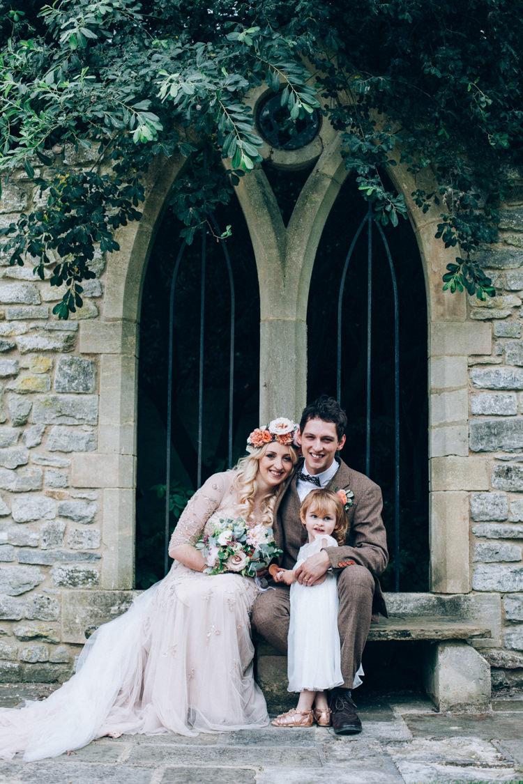 Daughter Bride Groom Flower Girl Flowery Bohemian Secret Garden Wedding https://caseyavenue.co.uk/