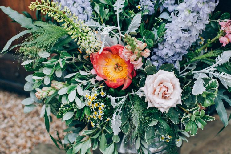 Coral Peony Flowery Bohemian Secret Garden Wedding https://caseyavenue.co.uk/