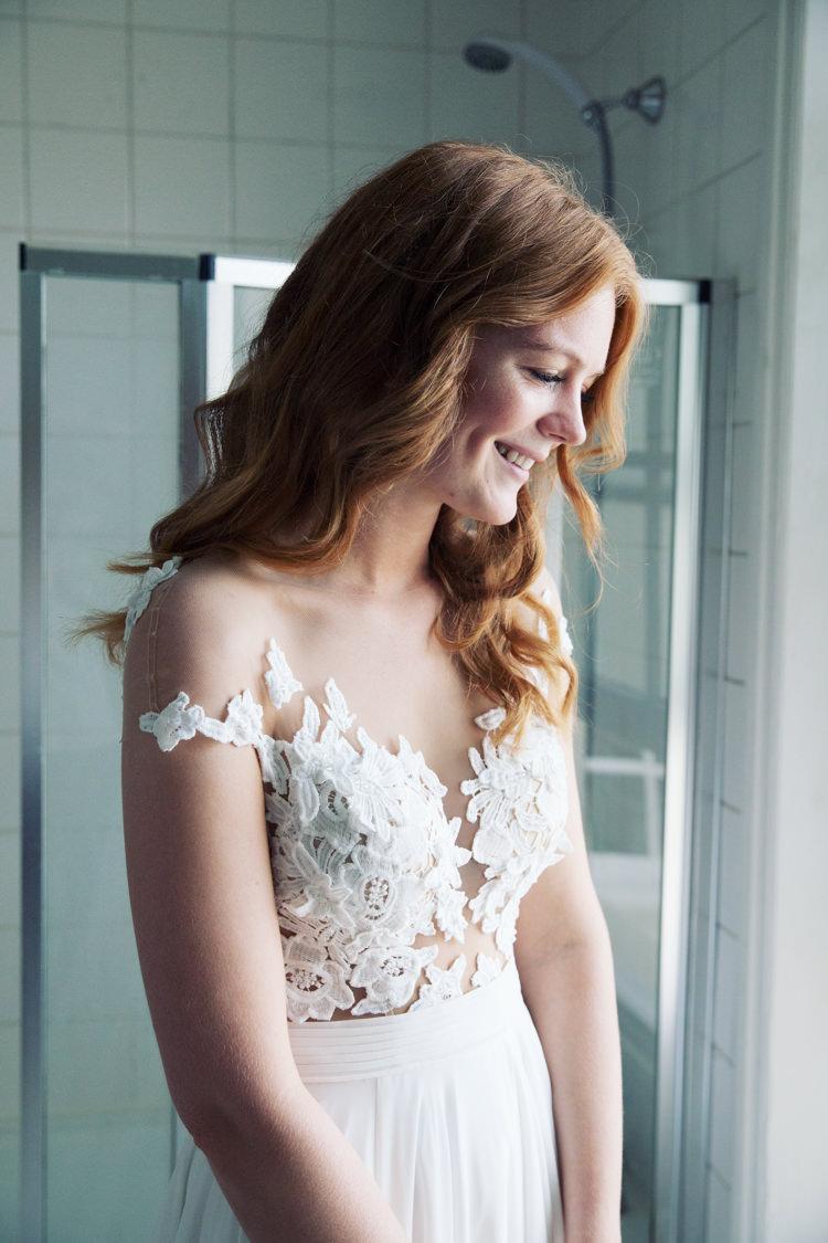 Illusion Lace Dress Gown Bride Bridal Mila Nova Relaxed Lavender Farm Marquee Wedding https://sashaleephotography.com/