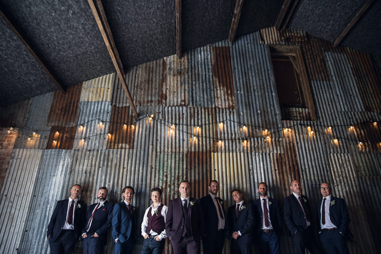 Groom Groomsmen Mismatched Suits Heartfelt Celestial Handmade Wedding http://assassynation.co.uk/