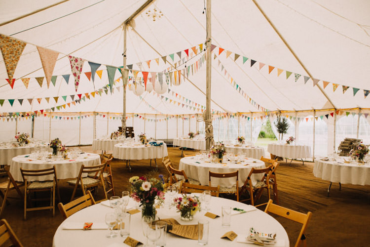 Marquee Bunting Rustic Decor Joyful Homespun Humanist Farm Camping Wedding https://aniaames.co.uk/