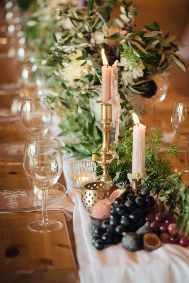 Candlesticks Table Decor Pretty Blush Floral Tipi Wedding Ideas https://www.sarahvivienne.co.uk/