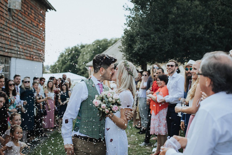 ConfettI Rustic Homespun Country Chapel Barn Wedding Sussex http://www.olegssamsonovsphotography.com/