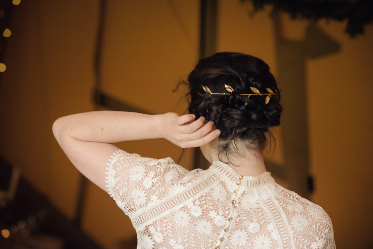 Hair Vine Bride Bridal Style Up Do Pretty Blush Floral Tipi Wedding Ideas https://www.sarahvivienne.co.uk/