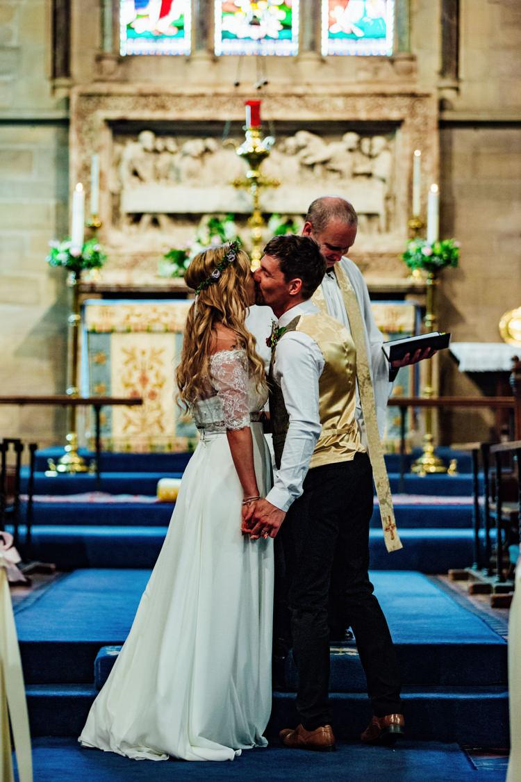 Groom Floral Bow Tie Tweed Waistcoat Charlotte Balbier Separates Drop Shoulder Floral Crown Sweethearrt Neckline Bride Bridal Boho DIY Secret Garden Wedding https://bibandtuckerphotography.co.uk/