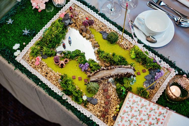 Micro Garden Miniature Table Centre Boho DIY Secret Garden Wedding https://bibandtuckerphotography.co.uk/