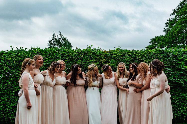 Bride Bridal Separates Bridesmaids Pink Blush Mismatched Boho DIY Secret Garden Wedding https://bibandtuckerphotography.co.uk/