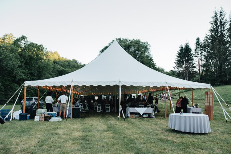 Outdoor Field Forest Wild Nature Marquee Tipi Reception Rustic | Breathtaking Secluded Back Garden Open Sided Tent Wedding Vermont https://kickasscouples.com/