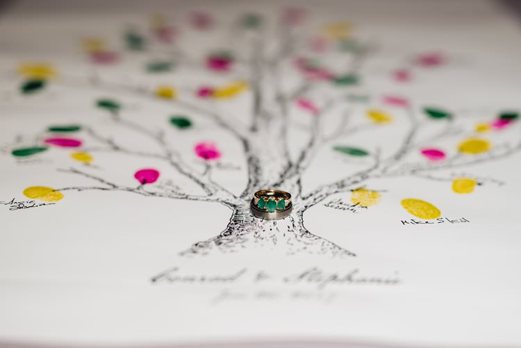 Outdoor Field Forest Wild Nature Marquee Tipi Reception Rustic Tree Fingerprint Guestbook Rings | Breathtaking Secluded Back Garden Open Sided Tent Wedding Vermont https://kickasscouples.com/