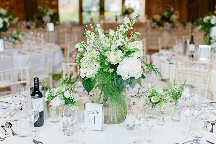 Table Flowers White Foliage Vase Centrepiece Understated Elegance Greenery Natural Wedding Gaynes Park Essex http://ilariapetrucci.co.uk/