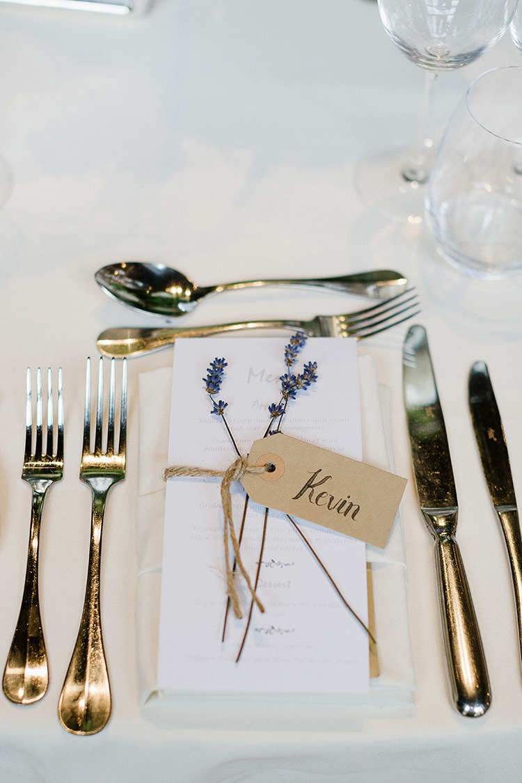 Lavender Luggage Tag Place Name Setting Understated Elegance Greenery Natural Wedding Gaynes Park Essex http://ilariapetrucci.co.uk/