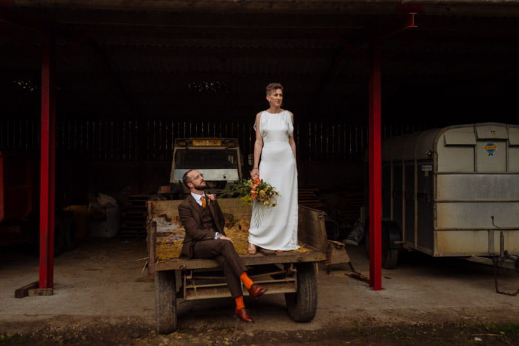 DIY Bride Groom Alternative Hippy Forest Farm Truck Field Garden Wedding | Homegrown Community Eclectic Rural Yorkshire Wedding https://toastofleeds.co.uk/