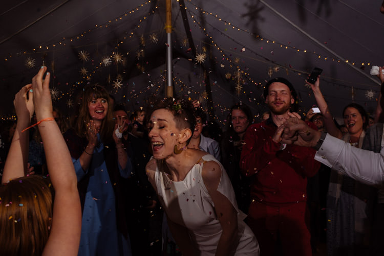 DIY Bride Groom Dance Confetti Marquee Tipi Alternative Hippy Forest Farm Field Garden Wedding | Homegrown Community Eclectic Rural Yorkshire Wedding https://toastofleeds.co.uk/