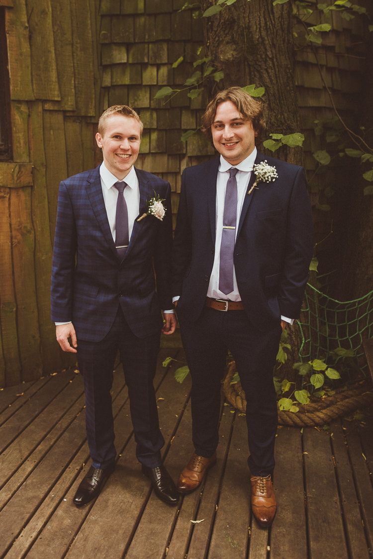 Groom Suit Navy Check Hugo Boss Rustic Relaxed Woodsy Alnwick Treehouse Northumberland Wedding http://www.mattpenberthy.com/