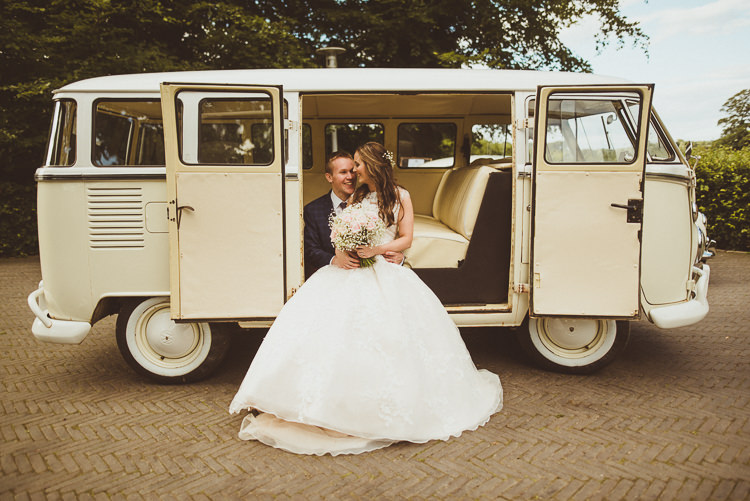 VW Campervan Transport Rustic Relaxed Woodsy Alnwick Treehouse Northumberland Wedding http://www.mattpenberthy.com/