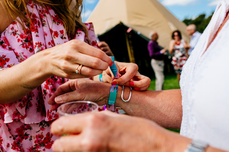 Wrist Bands Bright Fun Festival Boho Wedding The Party Field East Sussex http://epiclovestory.co.uk/