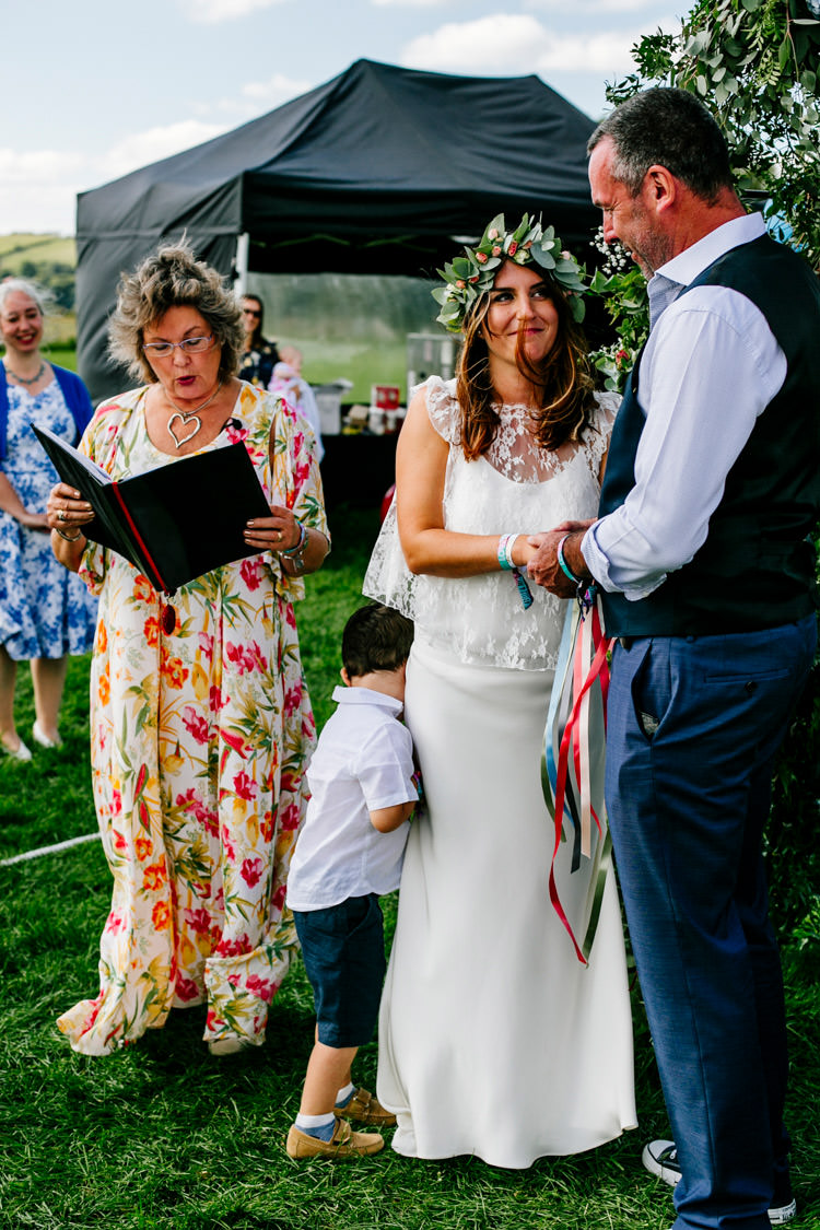 Handfasting Ceremony UK Outdoor Bright Fun Festival Boho Wedding The Party Field East Sussex http://epiclovestory.co.uk/