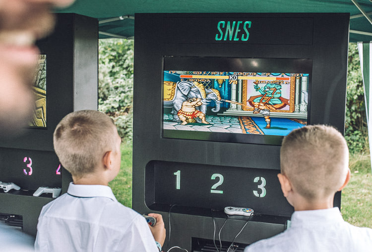 Retro Video Games Mismatched Colourful Wildflower Meadow Wedding Hush Venues Norfolk http://lighteningphotography.co.uk/