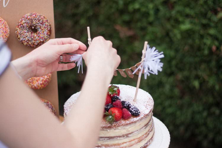 DIY Wedding Dessert Table Tutorial Cake Topper