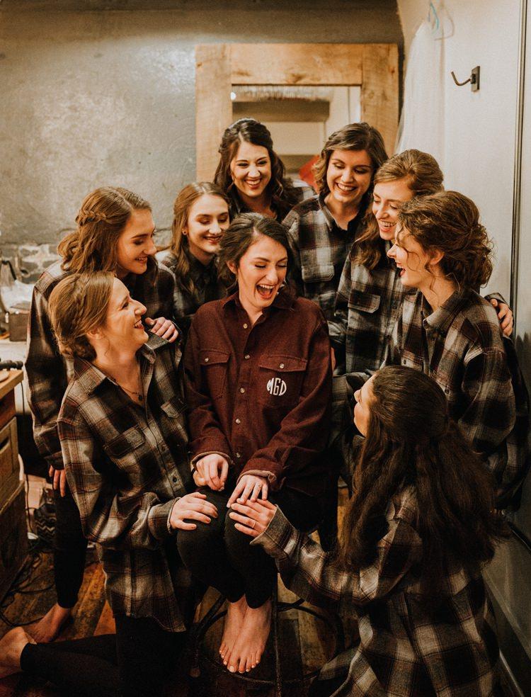 City Urban Georgia Engine Room Exposed Bricks Bride Burgundy Bridesmaids Chequered Shirts | Bohemian Industrial Oxblood Wedding https://www.lunaleephotos.com/