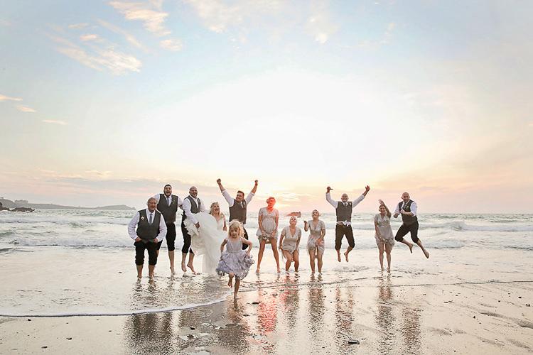 Pretty Sparkly Lusty Glaze Beach Cornwall Wedding http://victoriamitchellphotography.com/