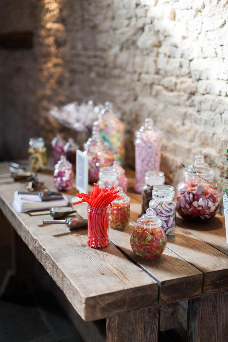 Sweets Sweetie Table Hazy Summer Lavender Grey Wedding Cripps Barn Cotswolds http://jobradbury.co.uk/