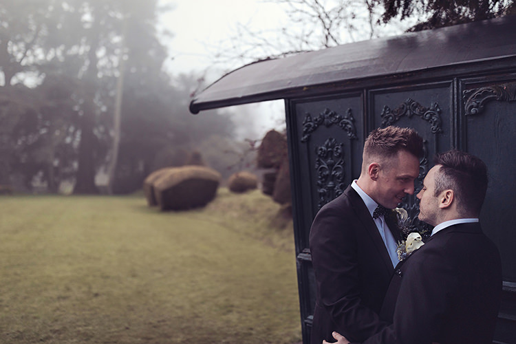 Groom Bow Tie Waistcoat Tails Magical Wonderland Askham Hall Wedding Winter Tiree Dawson Photography