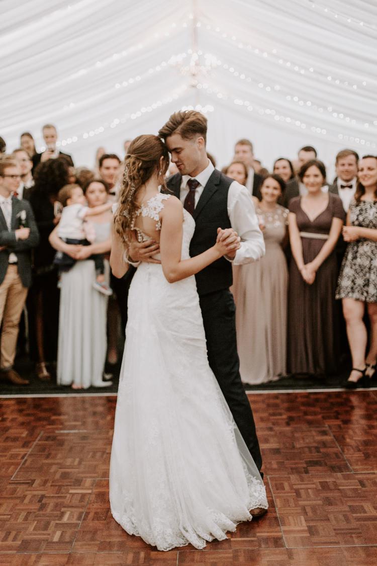 First Dance Dancefloor Bride Groom Botanical Summer Garden Wedding Nottingham Grace Elizabeth Photo & Film