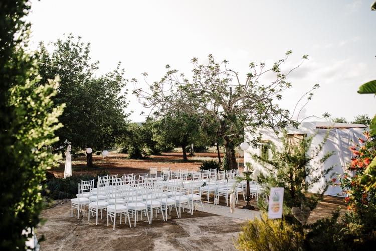Spain Sun Outdoor Tropical Mediterranean Garden Villa Sea Island Outdoor Ceremony | Ibiza Destination Wedding Amy Faith Photography