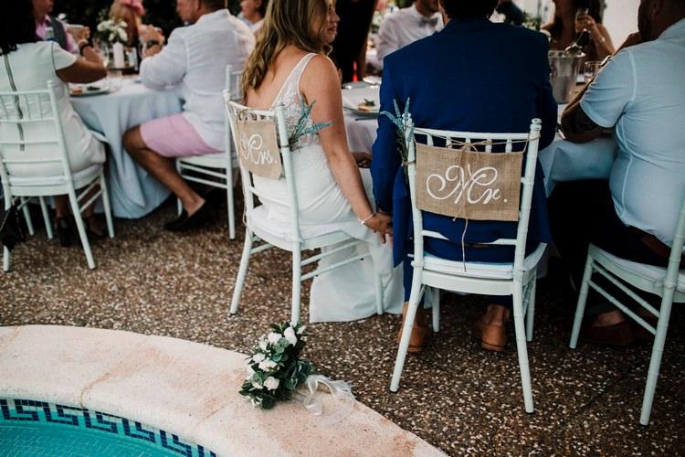 Spain Sun Outdoor Tropical Mediterranean Garden Villa Outdoor Reception Bride Groom | Ibiza Destination Wedding Amy Faith Photography