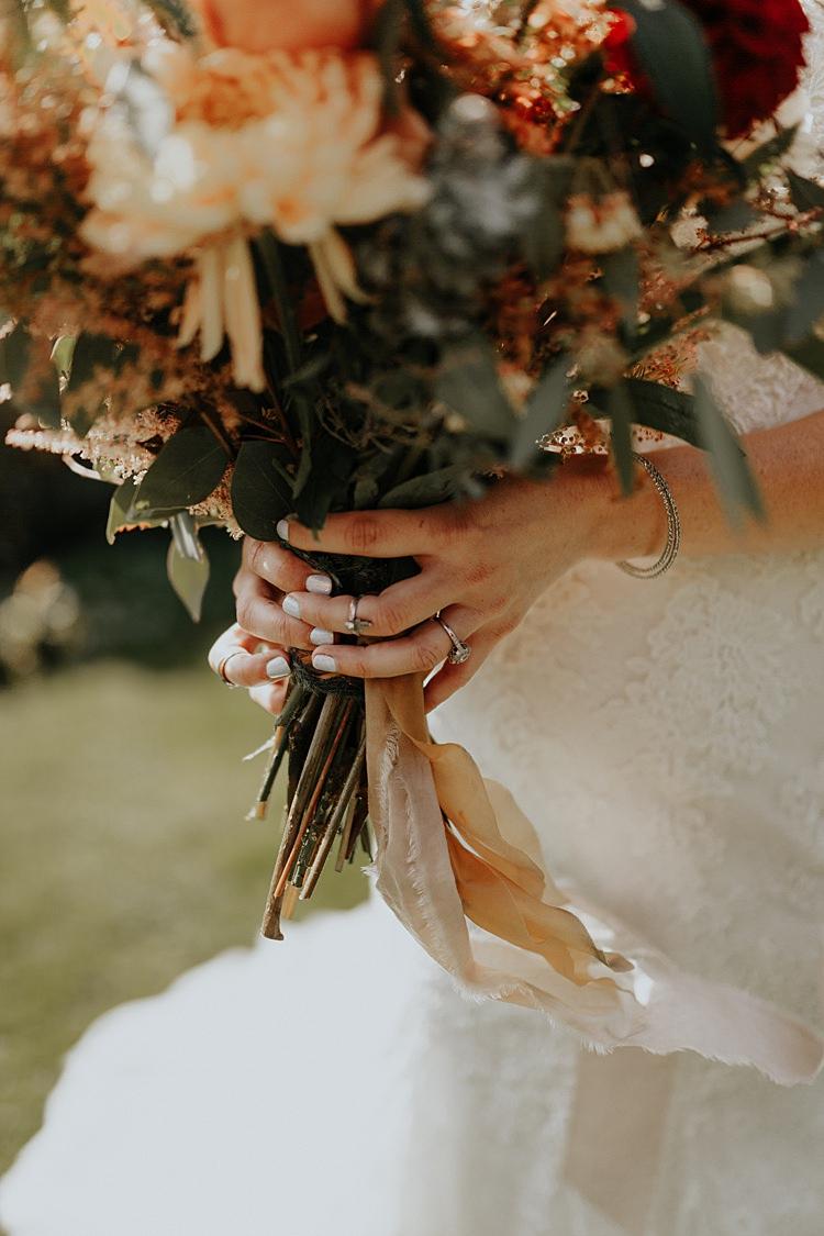 Bride Bridal Manicure Nails North Hidden Barn Wedding Autumn Jen Marino Photography