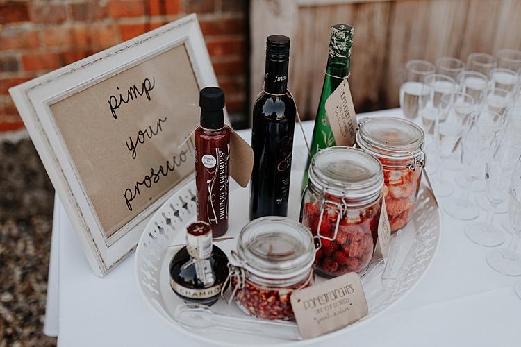 Pimp Prosecco Station Bar Stand Drinks North Hidden Barn Wedding Autumn Jen Marino Photography