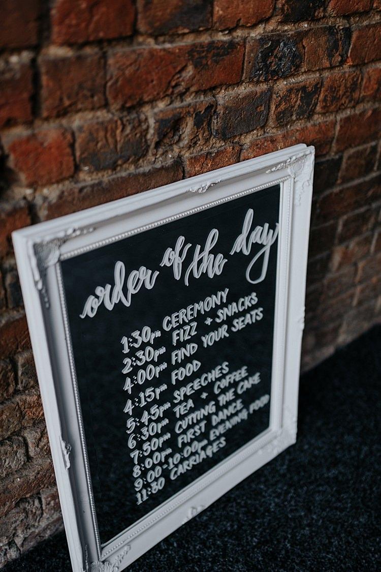 Wooden Frame Mirror Sign North Hidden Barn Wedding Autumn Jen Marino Photography