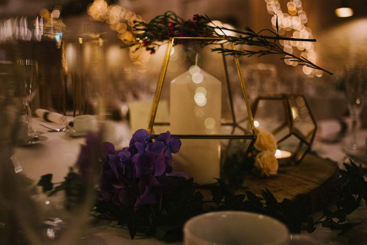 Terrarium Candles Flowers Decor Larchfield Estate Wedding Honey and the Moon Photography