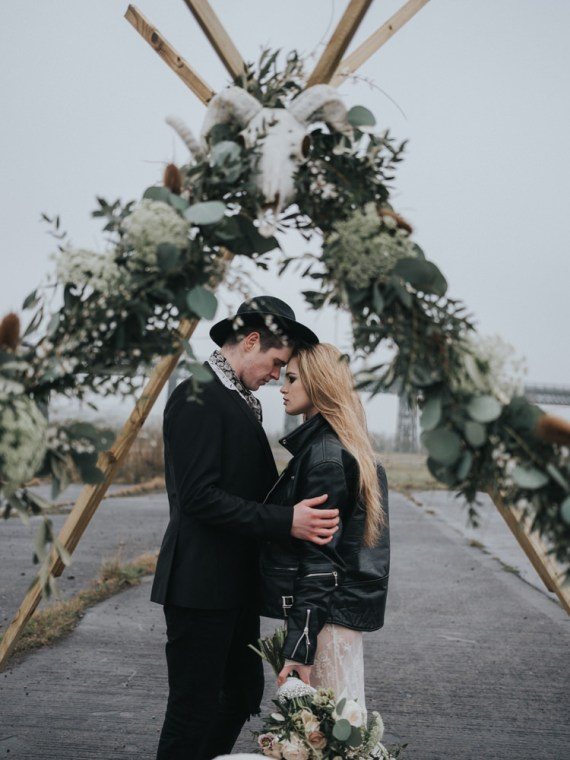 Alternative Edgy Naked Tipi Backdrop Wedding Ideas http://www.ivoryfayre.com/